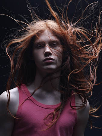 Tags: Bartek Borowiec , long red hair , male model